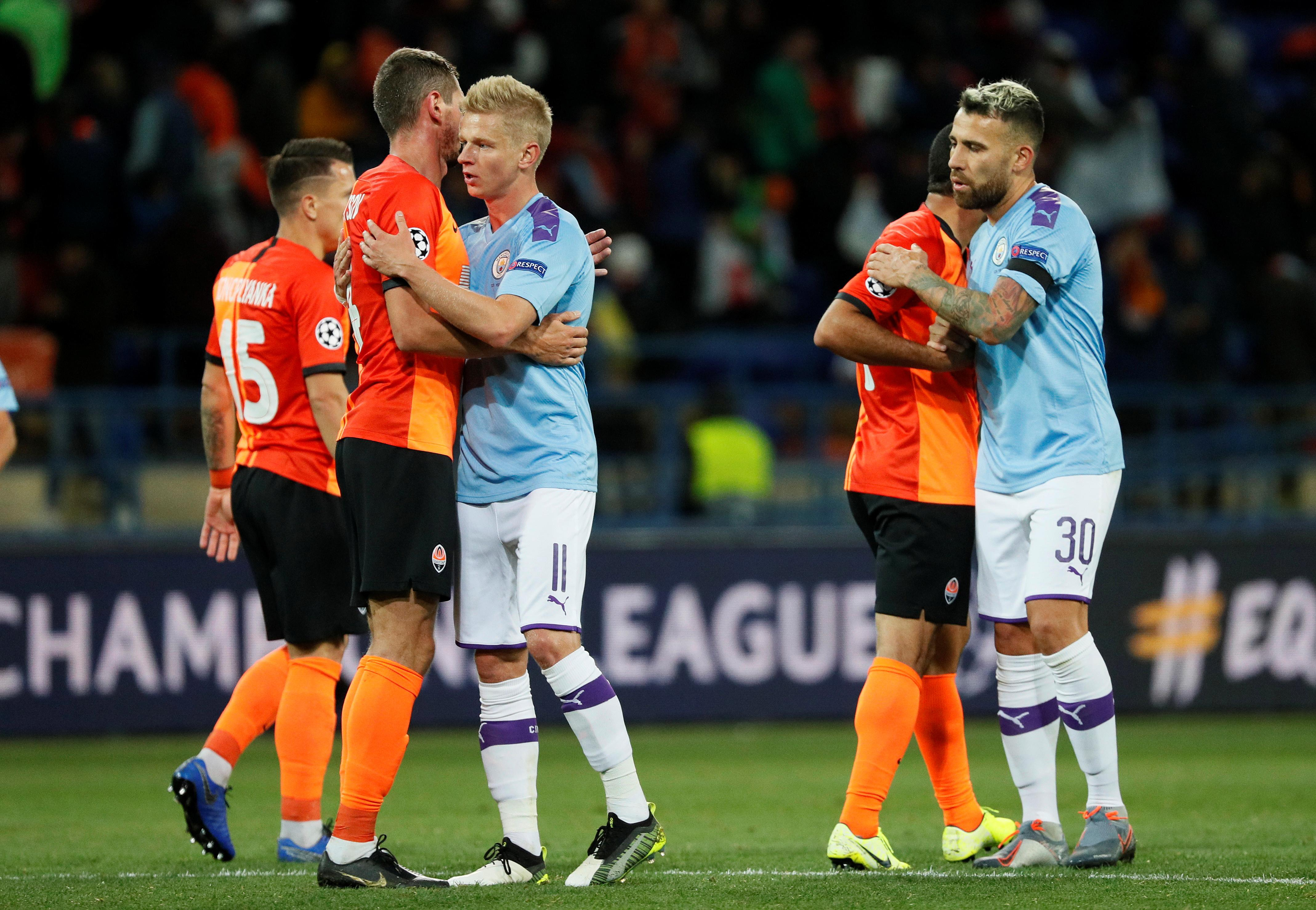City put aside domestic slip with 3-0 win at Shakhtar