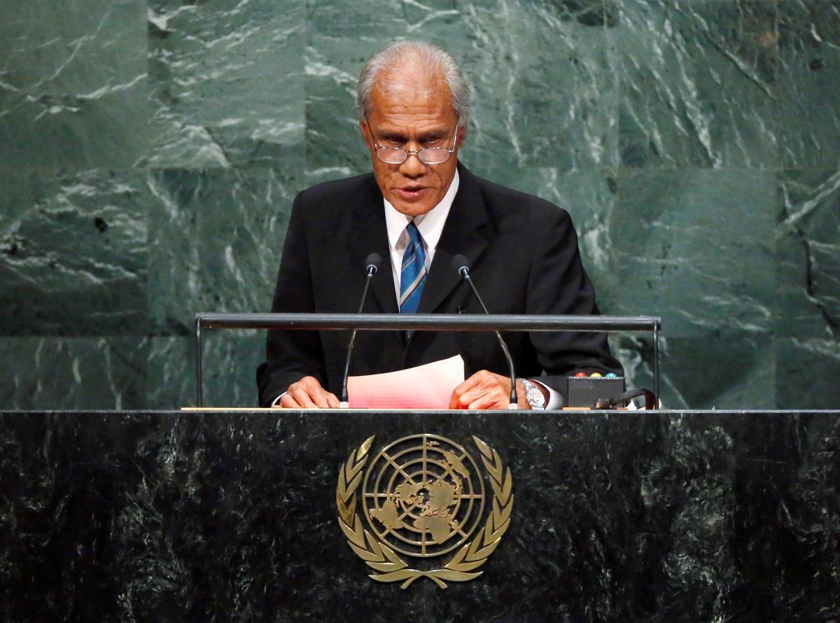 Tonga hou die begrafnis van die premier van die kampvegter vir klimaatsverandering