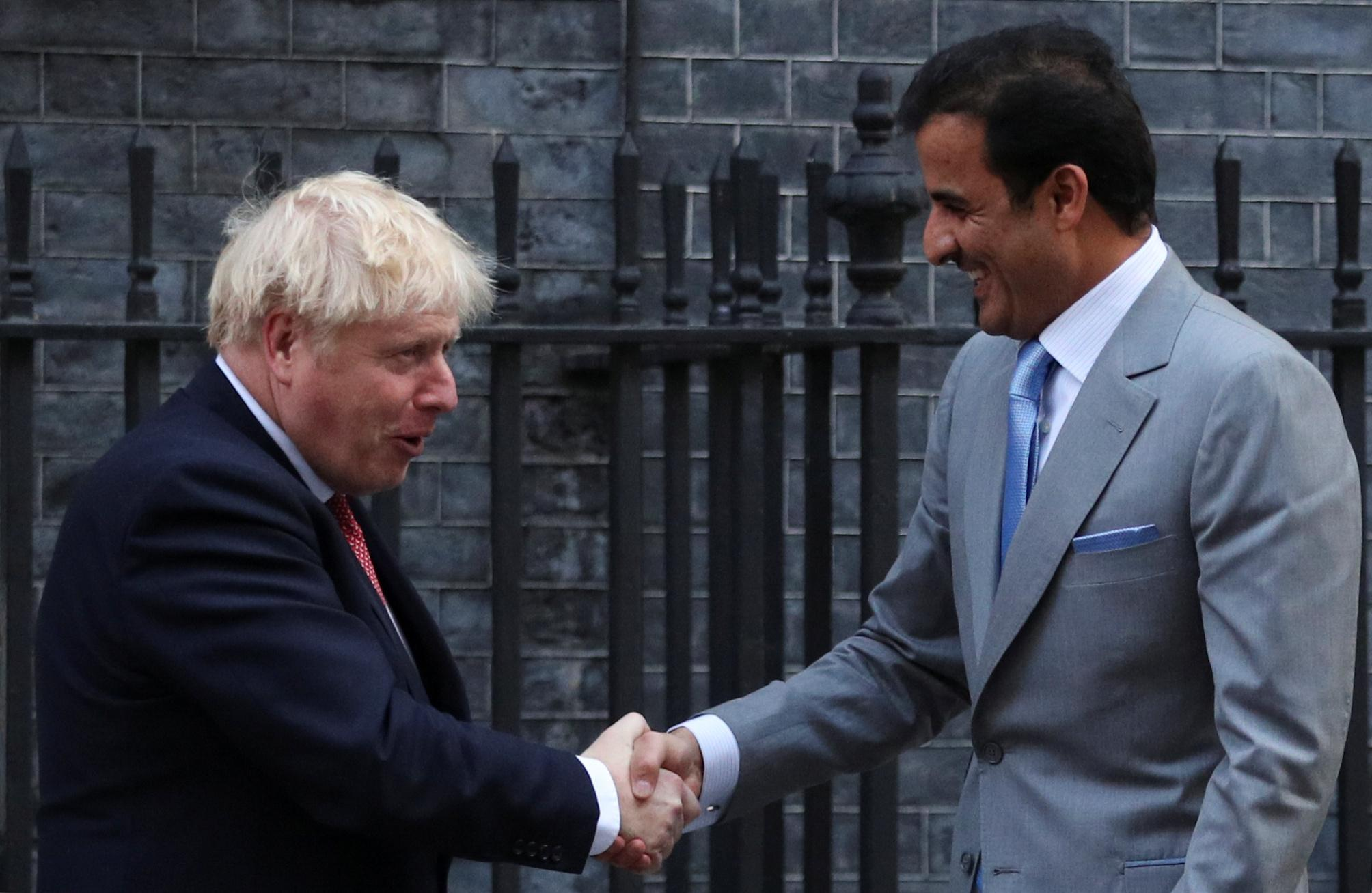 PM Johnson and Emir of Qatar discuss Aramco attacks in London meeting