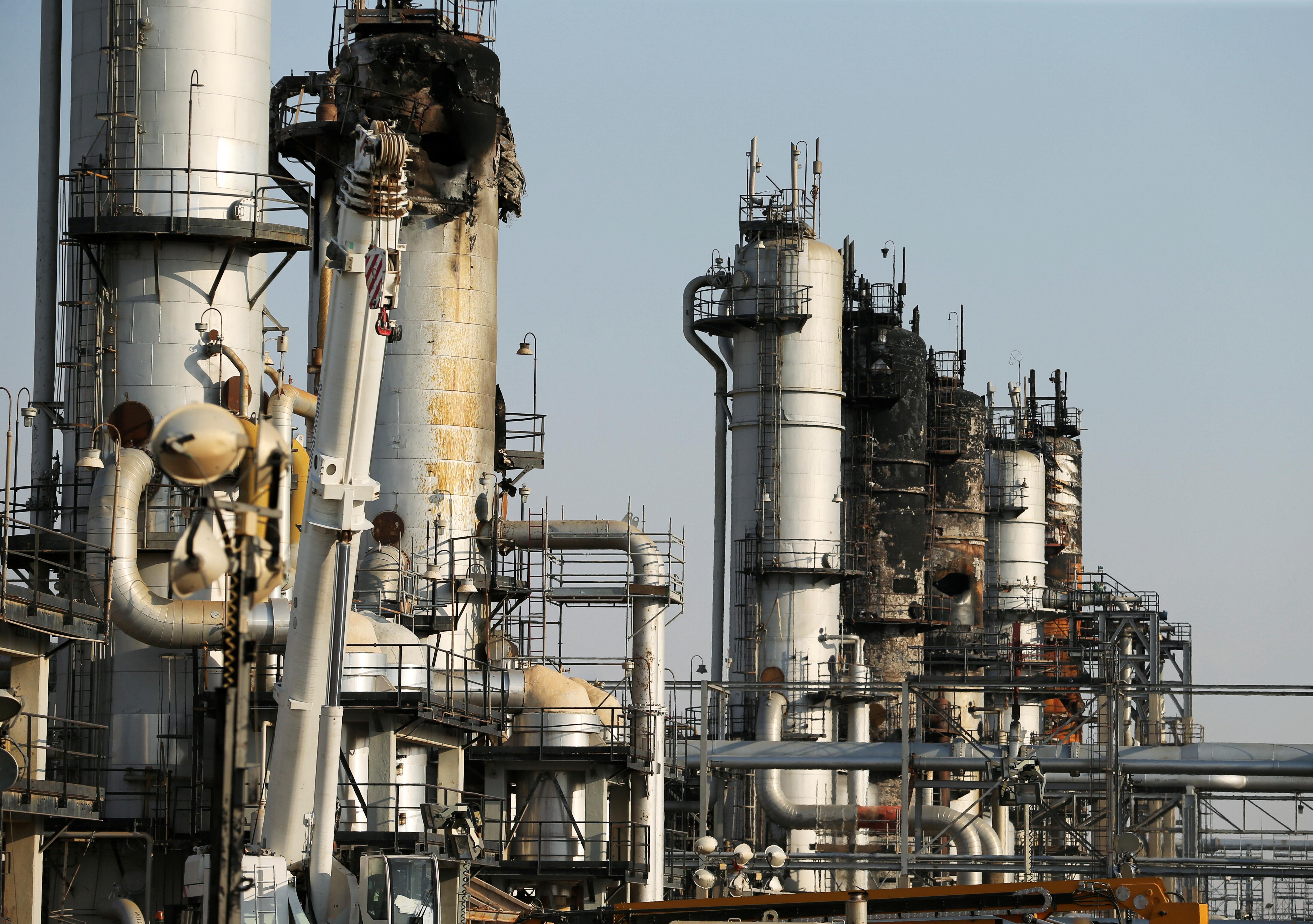 Media visit Saudi oil plant damaged in strike blamed on Iran