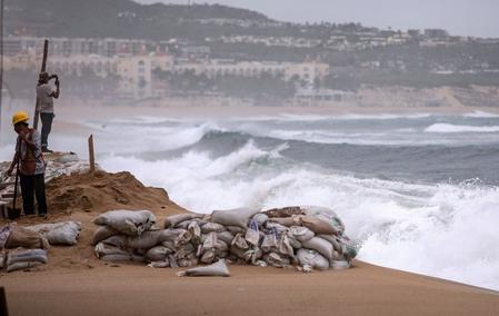 Hurricane Lorena drenches parts of Gulf of California, moves north of Mexico's Los Cabos