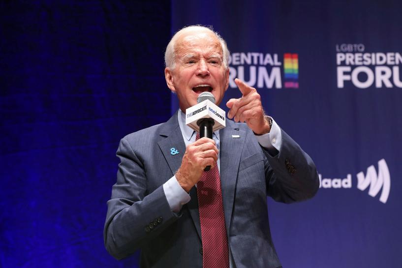 Biden's LGBTQ record draws scrutiny at Iowa presidential forum | Reuters