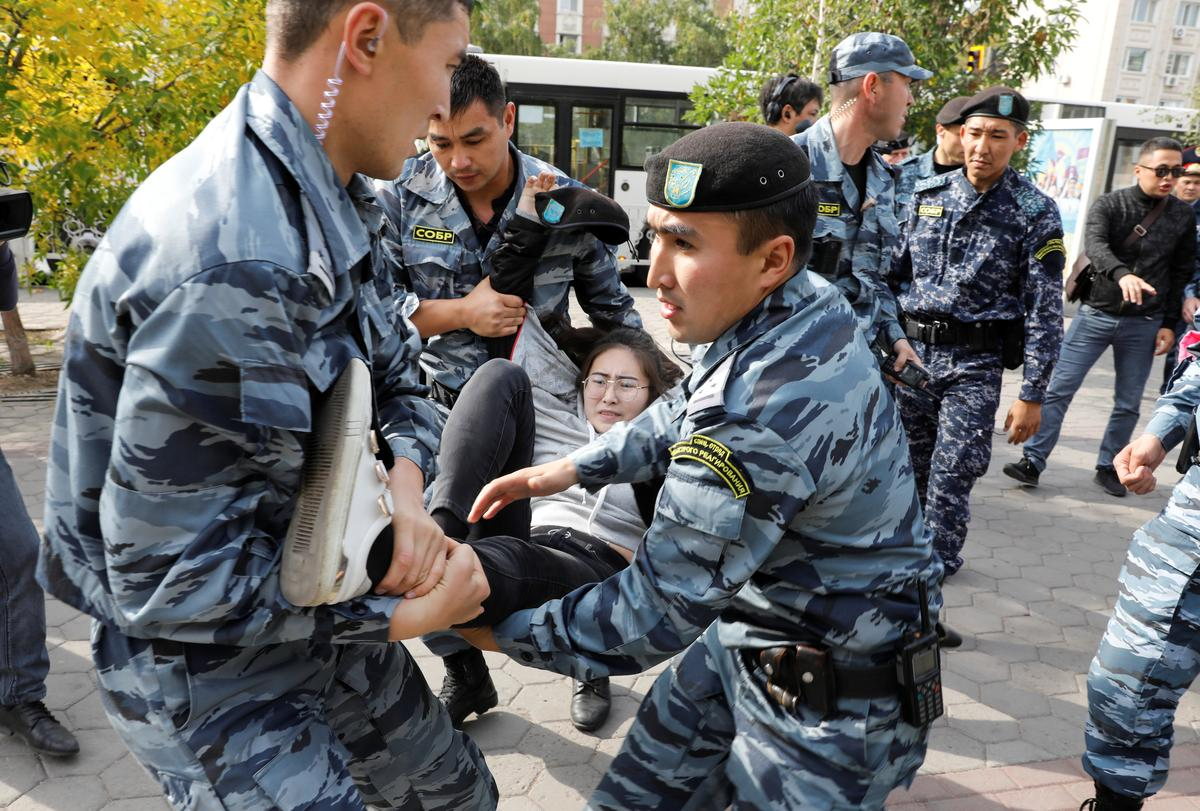 Dozens detained in Kazakhstan at anti-China protests
