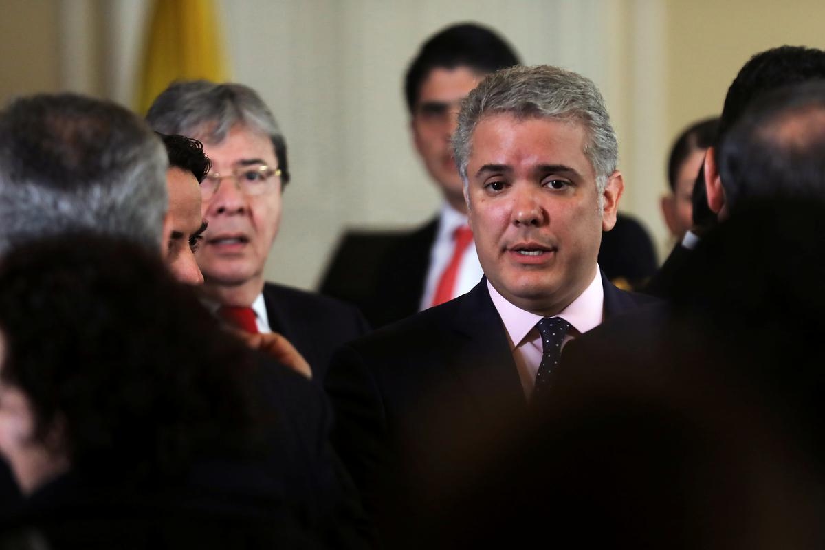 Die Duque van Colombia soek internasionale sanksies teen Venezuela om streek te beskerm
