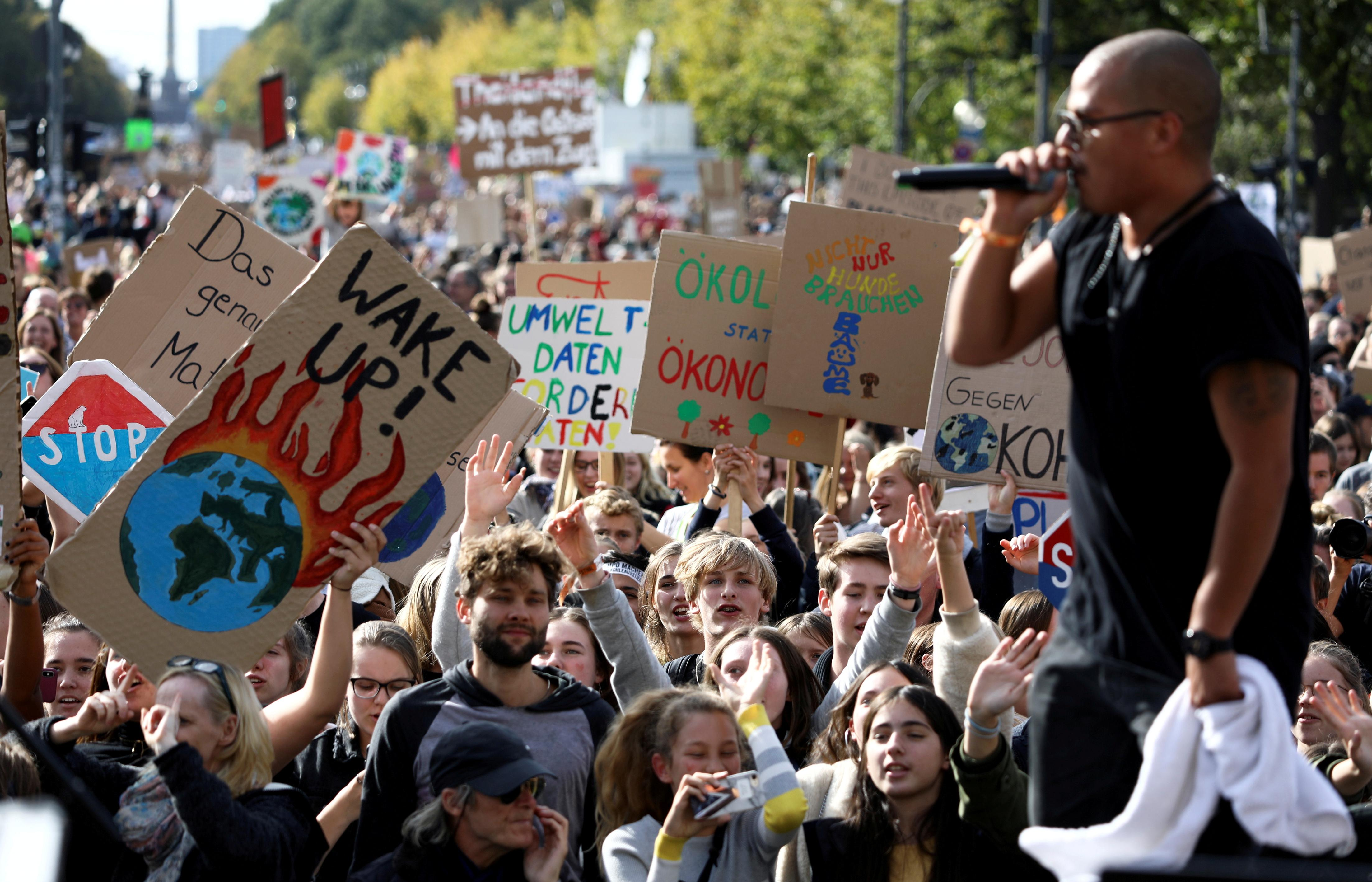 Germany's Greens promise to strengthen climate plan after protests