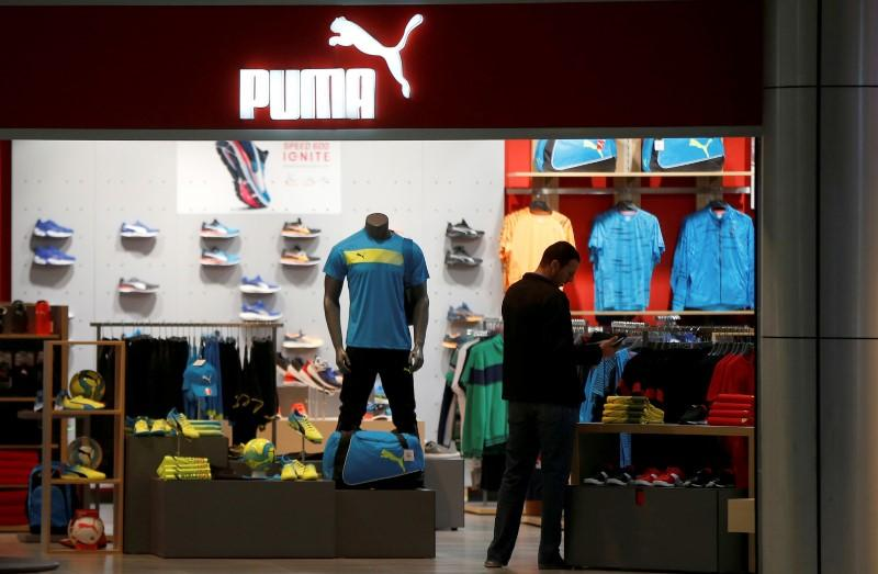 A customer visits a store of Puma sportswear company at Tbilisi Mall in Tbilisi, Georgia, April 22, 2016. David Mdzinarishvili