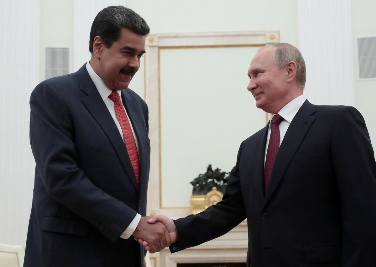 Poetin steun Venezuela-gesprekke wat deur opposisieleier verwerp is