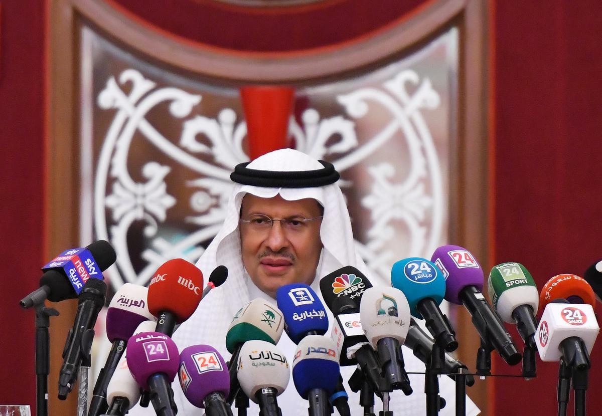 Saoedi-Arabië, minister van energie, sê etaanuitsette na aanval herstel