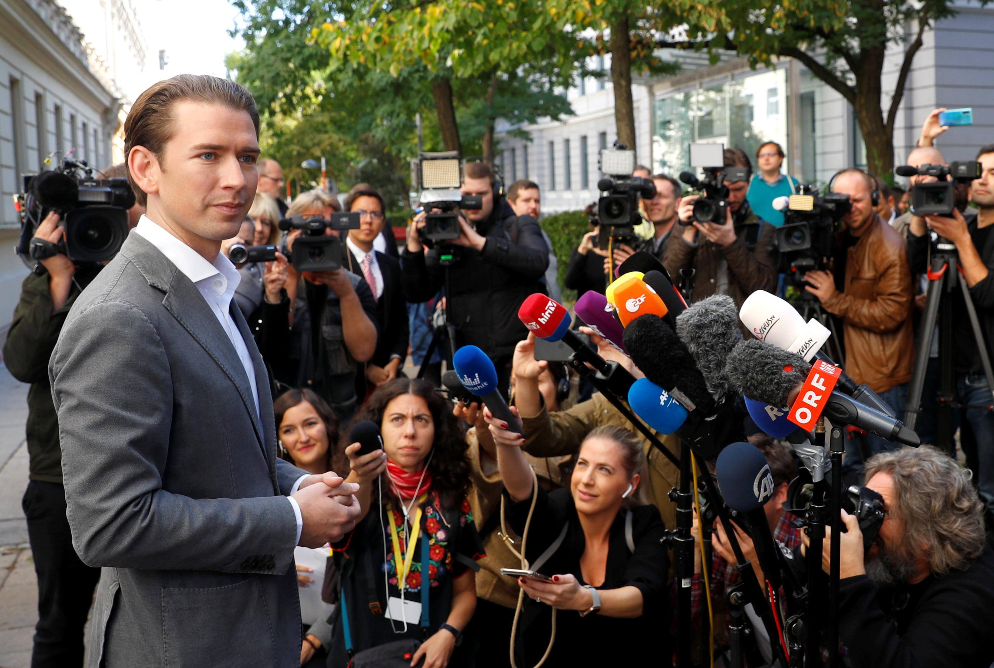 La victoire électorale du Kurz d'Autriche laissée à la coalition