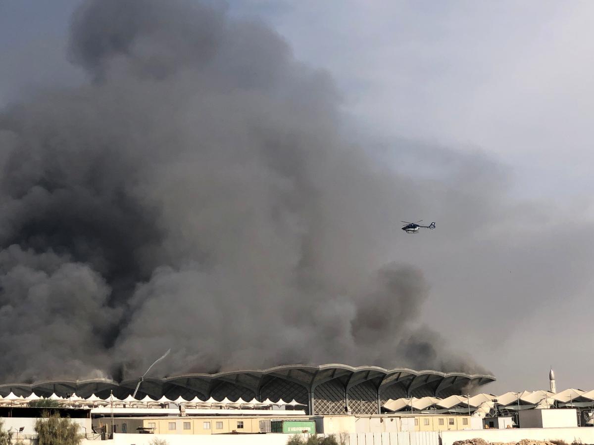 Brand by die hoëspoedstasie in Saoedi beseer minstens vyf