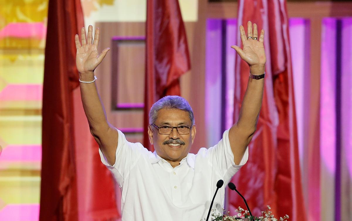 Rajapaksa, president van Sri Lanka, word deur die hoftoets oor nasionaliteit ondervind
