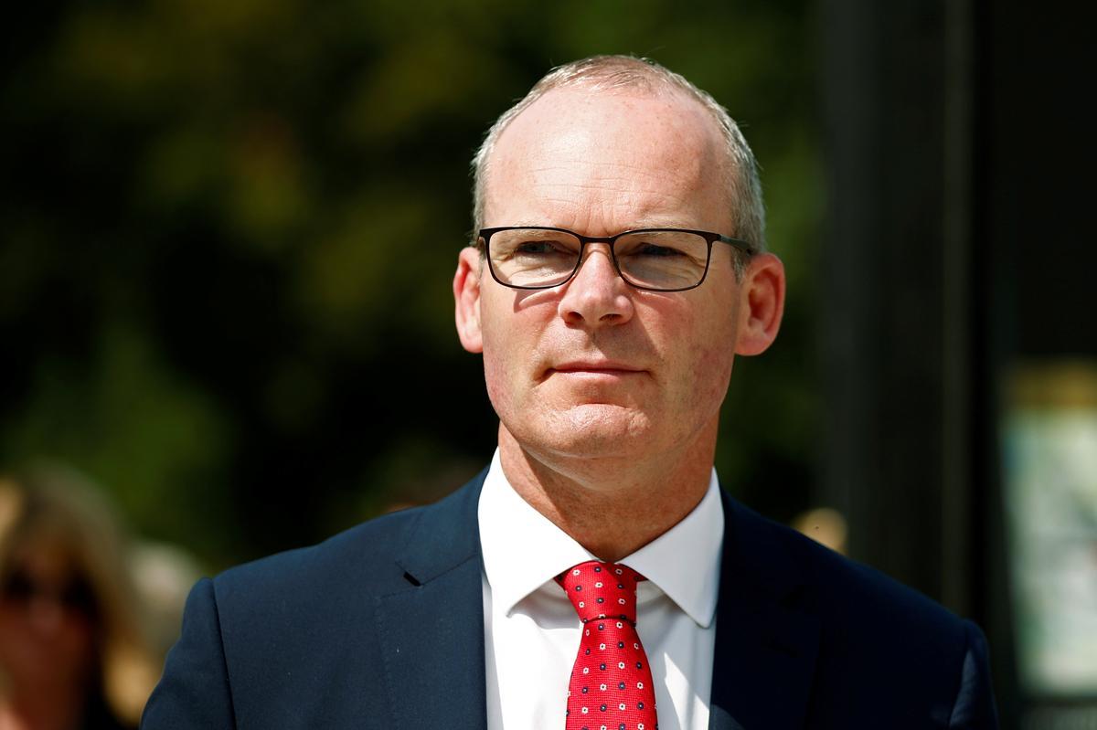 Die Ierse minister van Buitelandse Sake het gesê dat die Britse grensplan 'n nie-voorgereg het