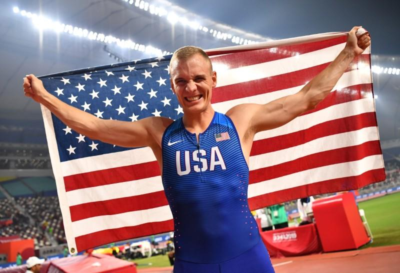 Pole vaulter Kendricks takes second world gold after duel with...