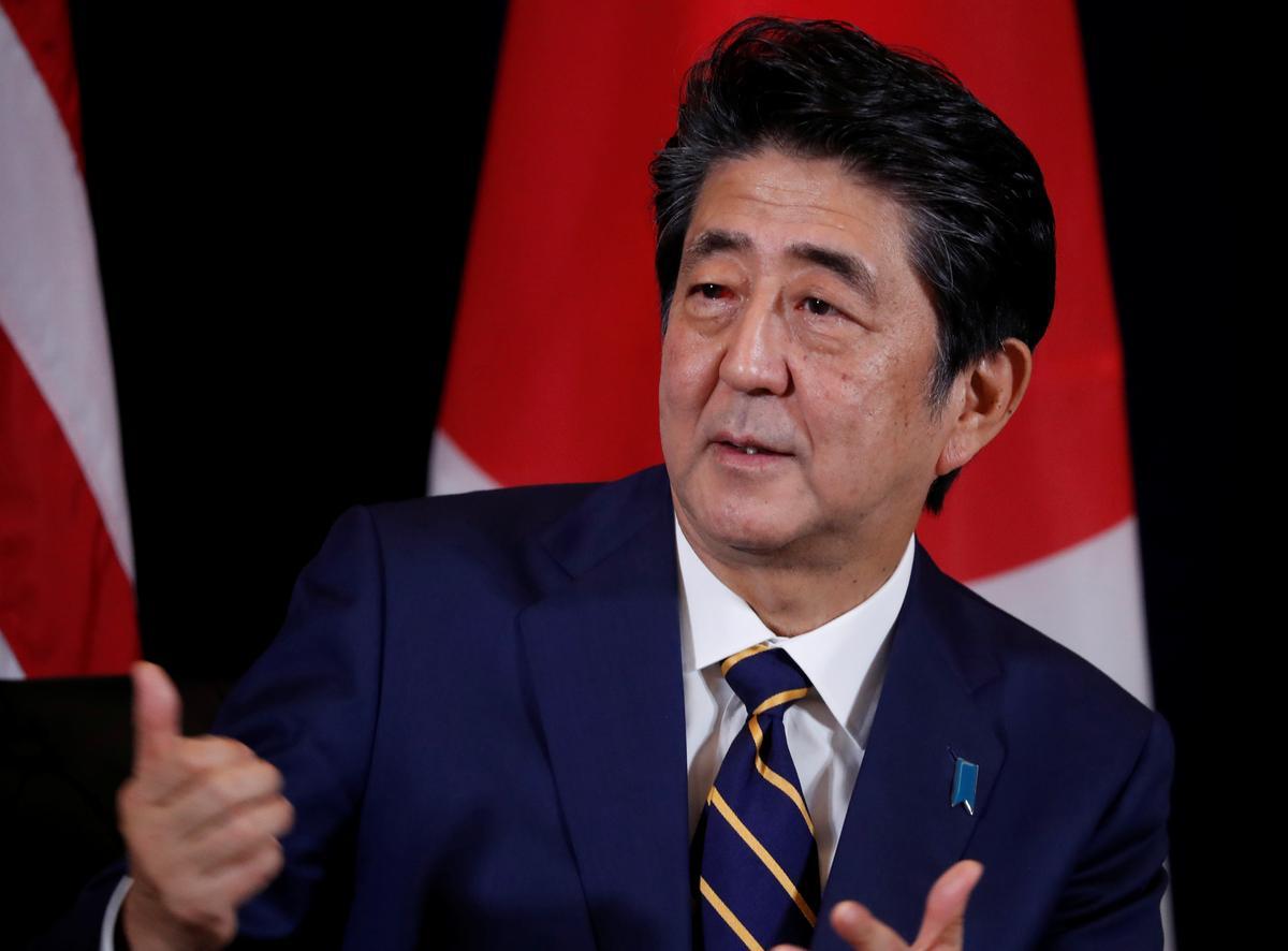 Japanse premier Abe veroordeel die jongste Noord-Koreaanse missiel-lanserings