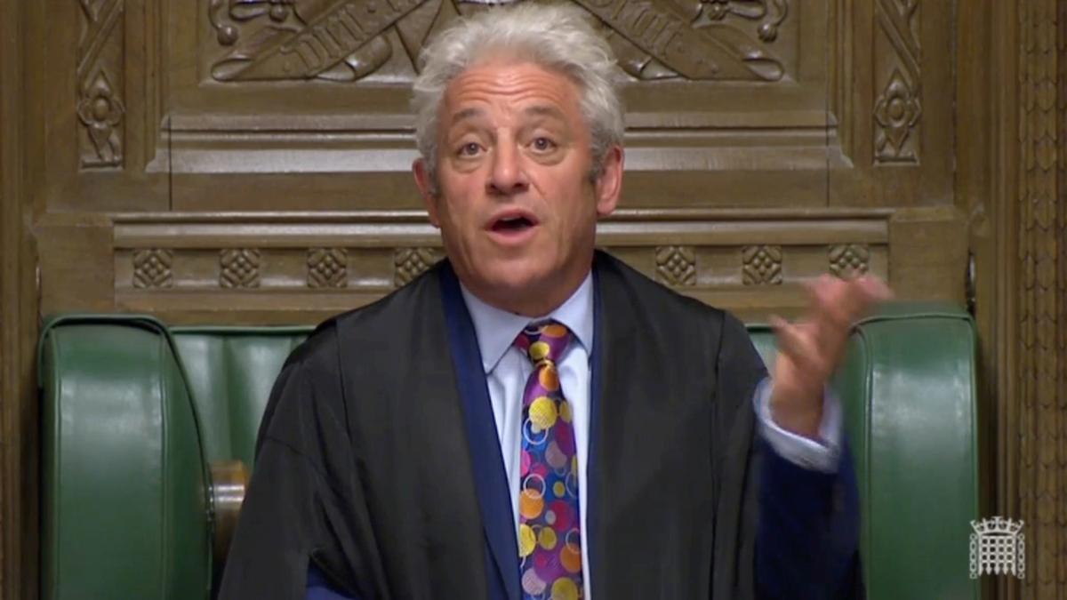 Britse parlement stilgemaak? Die hees Speaker Bercow sukkel om gehoor te word