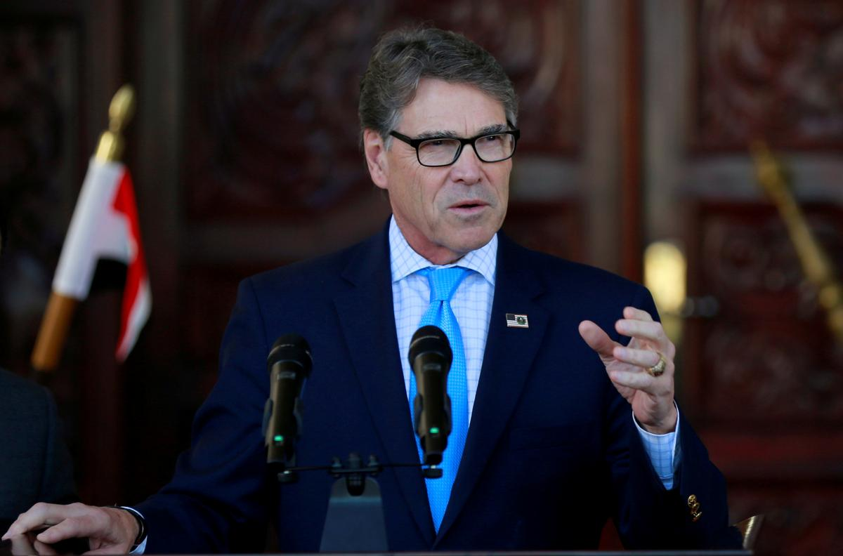 U.S. Energy Secretary Perry expected to announce resignation next month: Politico