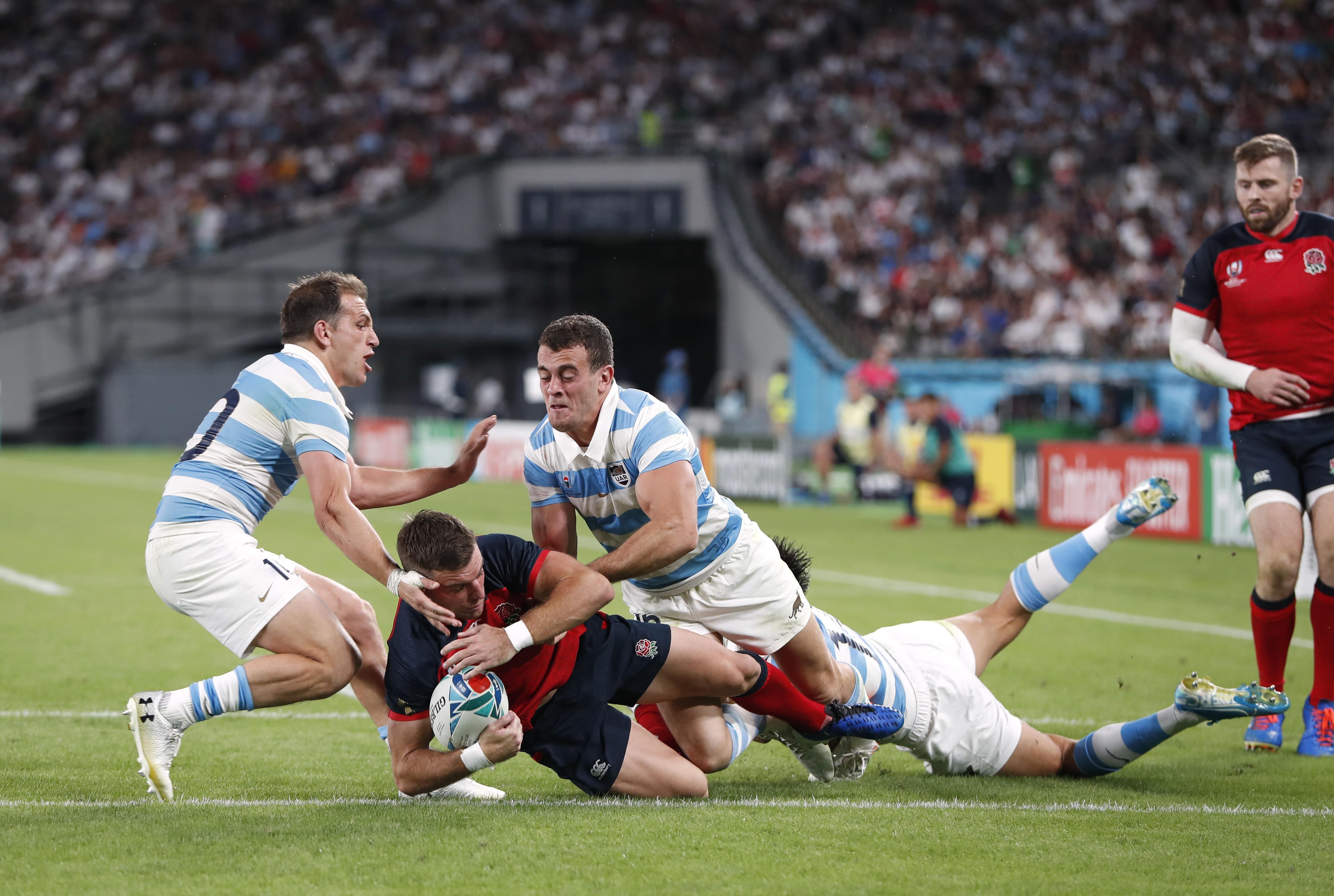 England march into quarter-finals as red card cripples Pumas