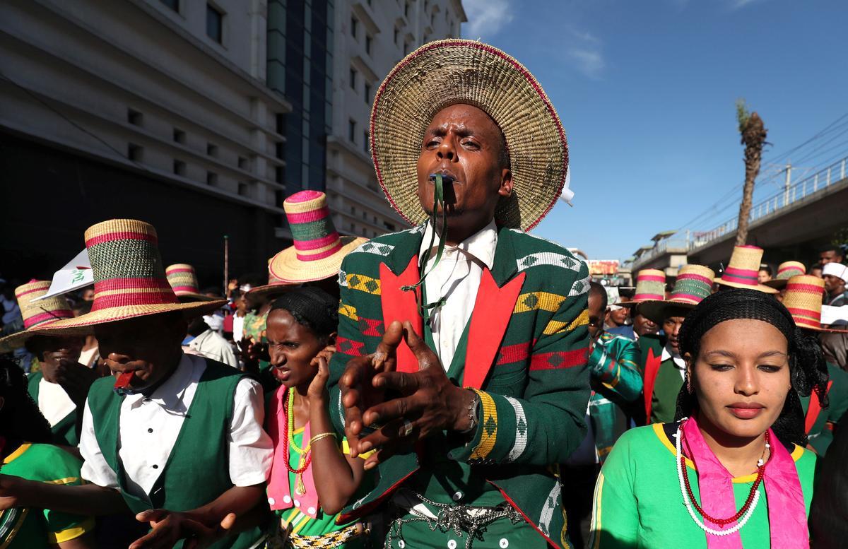 Oromo van Ethiopië se fees in Addis te midde van noue veiligheid
