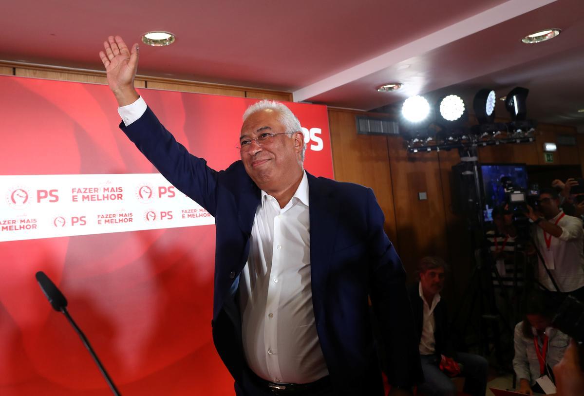 Portugal se premier, Costa, sê dat hy verkiesing gewen het om aan die linkerkant te voldoen