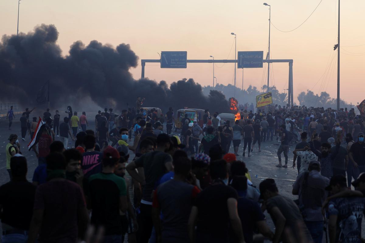 Doodsyfers klim soos die onrus in Irak Bagdad se vlugtige Sadr-stad tref