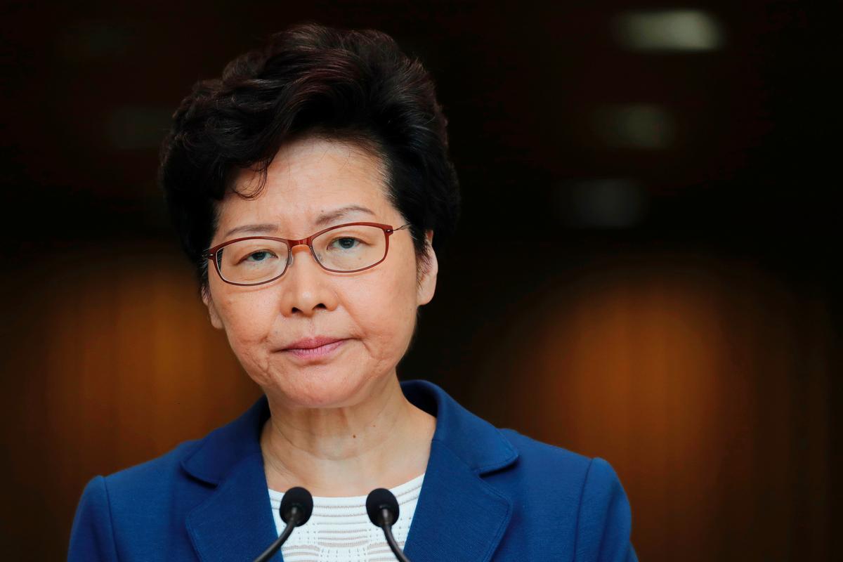 Carrie Lam, Hongkong-leier, sê geen planne is om noodmagte vir ander wette te gebruik nie