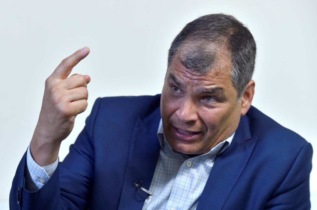 Oud-Ecuador-president Correa ontken beplanning van staatsgreep uit ballingskap