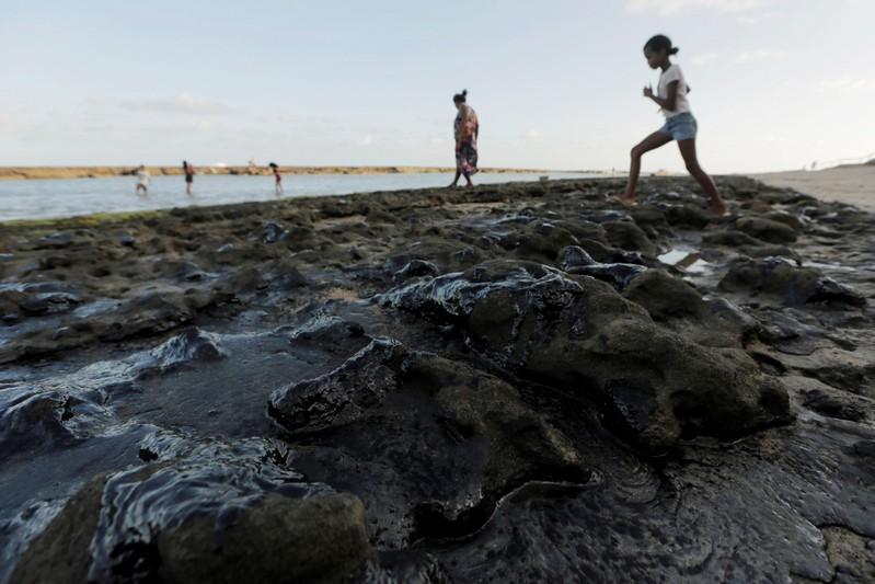 Brazil president sees crime behind mystery oil slicks