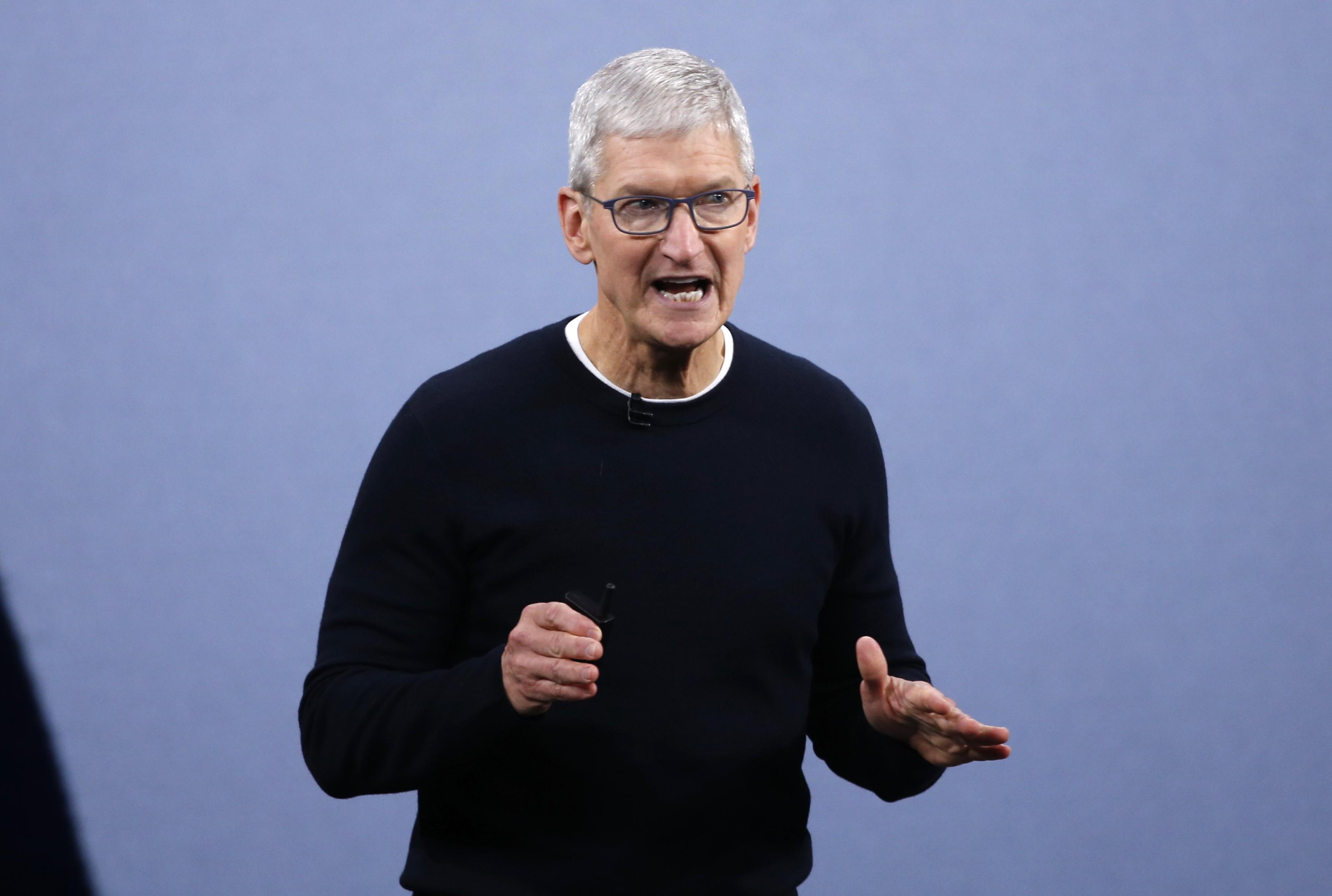 Apple CEO Cook defends removal of police-tracking app used in Hong...