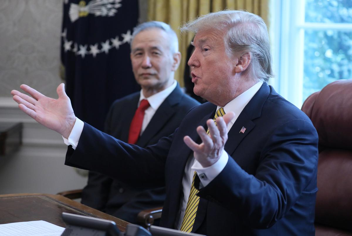 Trump to meet with Chinese Vice Premier Liu He at 2:45 p.m. EDT/1845 GMT Friday