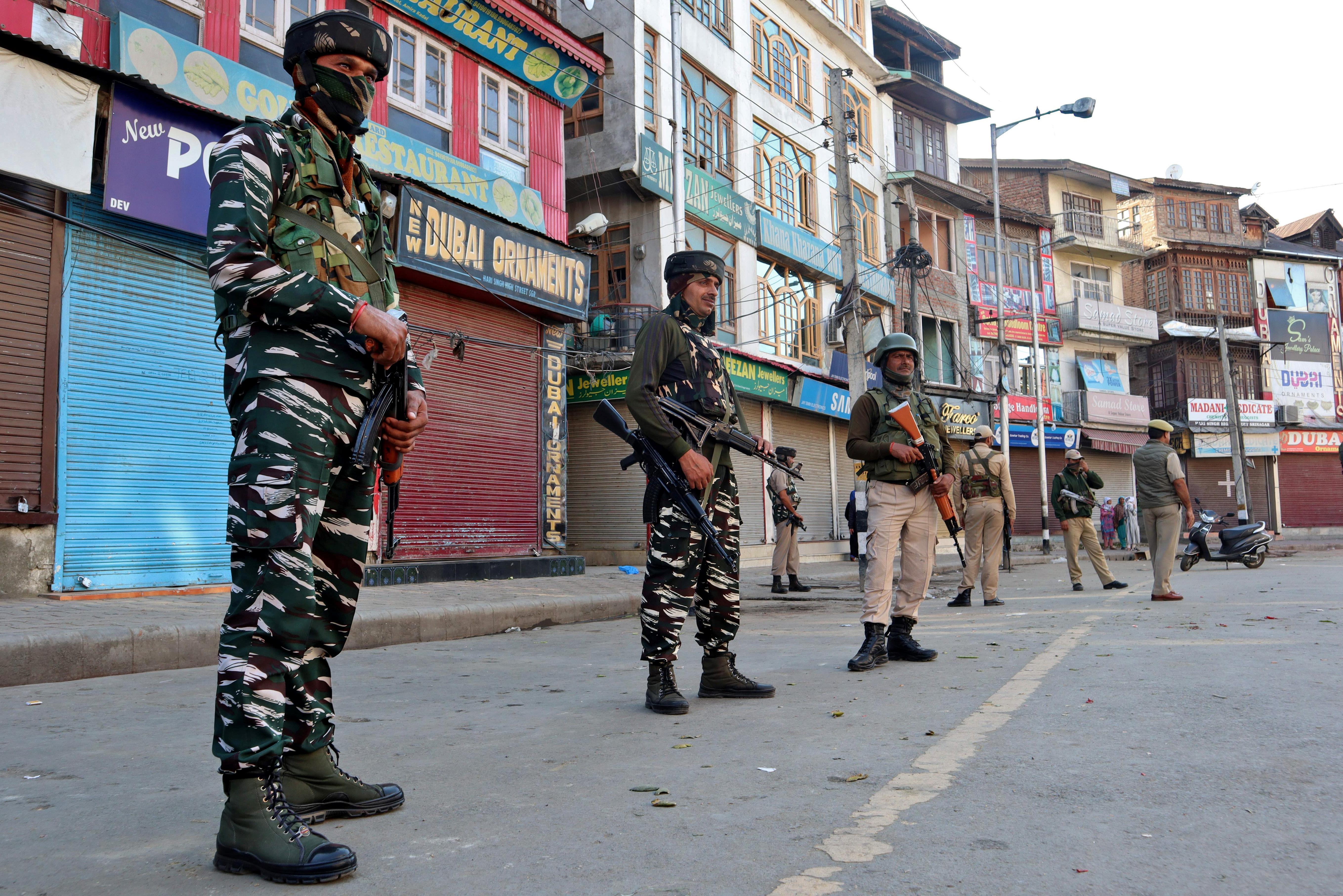 At least five injured in grenade attack in Kashmir's Srinagar amid...