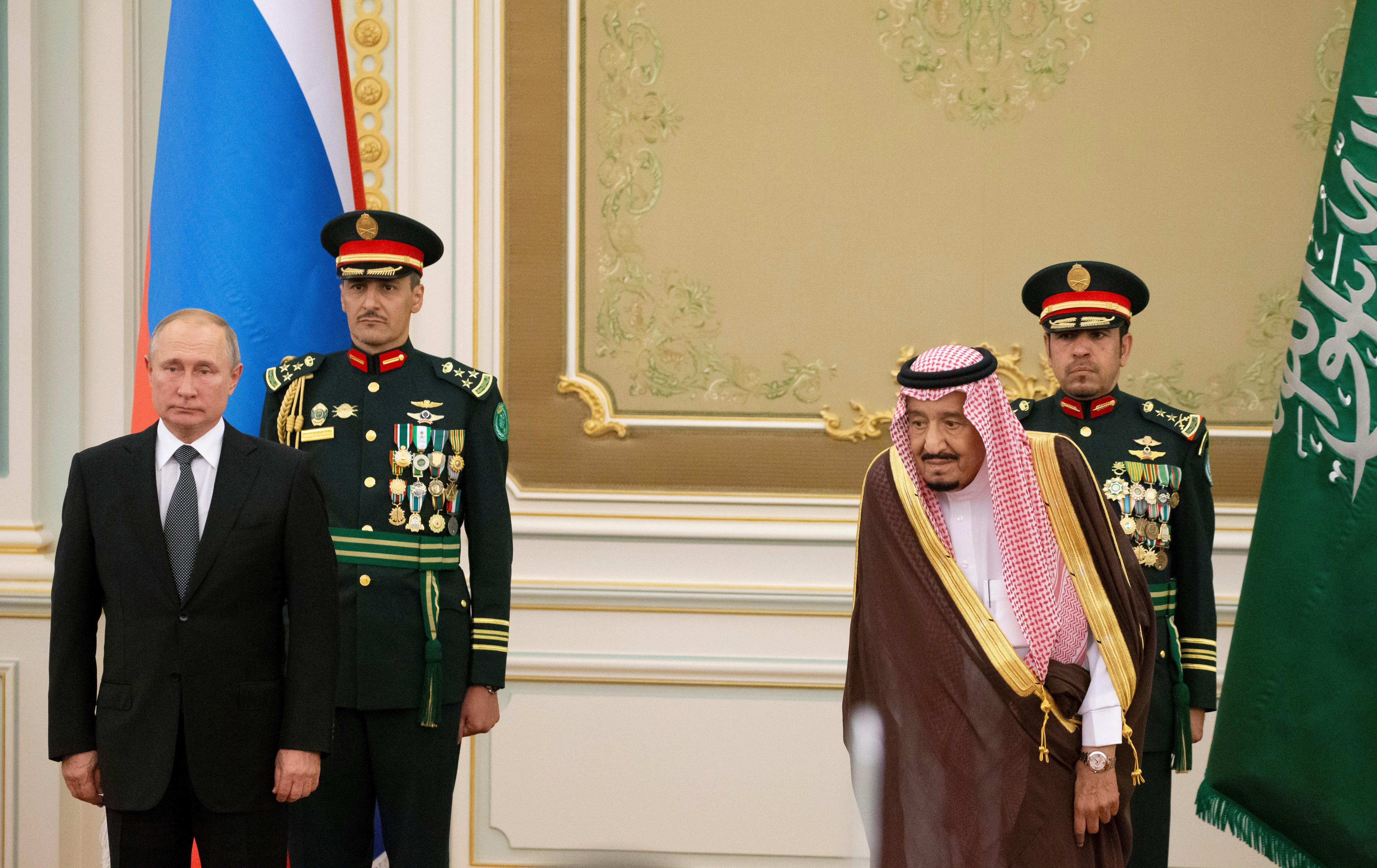 La visite saoudienne marque l'influence croissante de Poutine au Moyen-Orient
