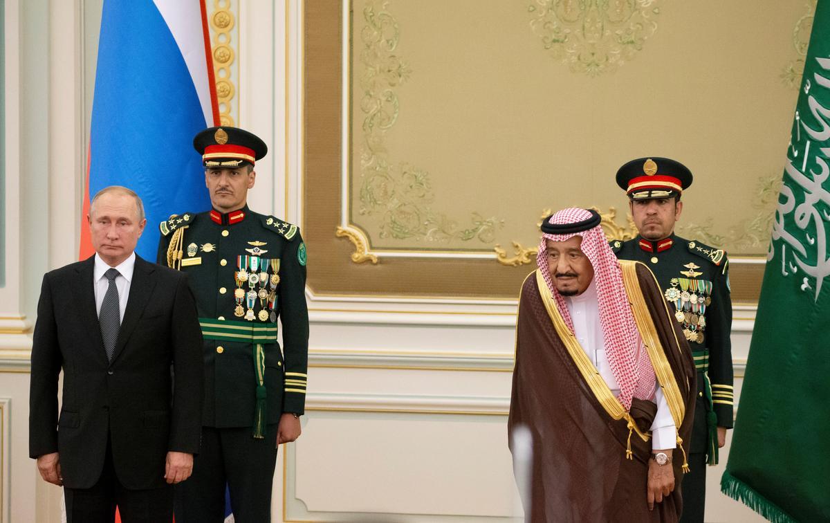 Image result for Putin visits Saudi Arabia in sign of growing ties