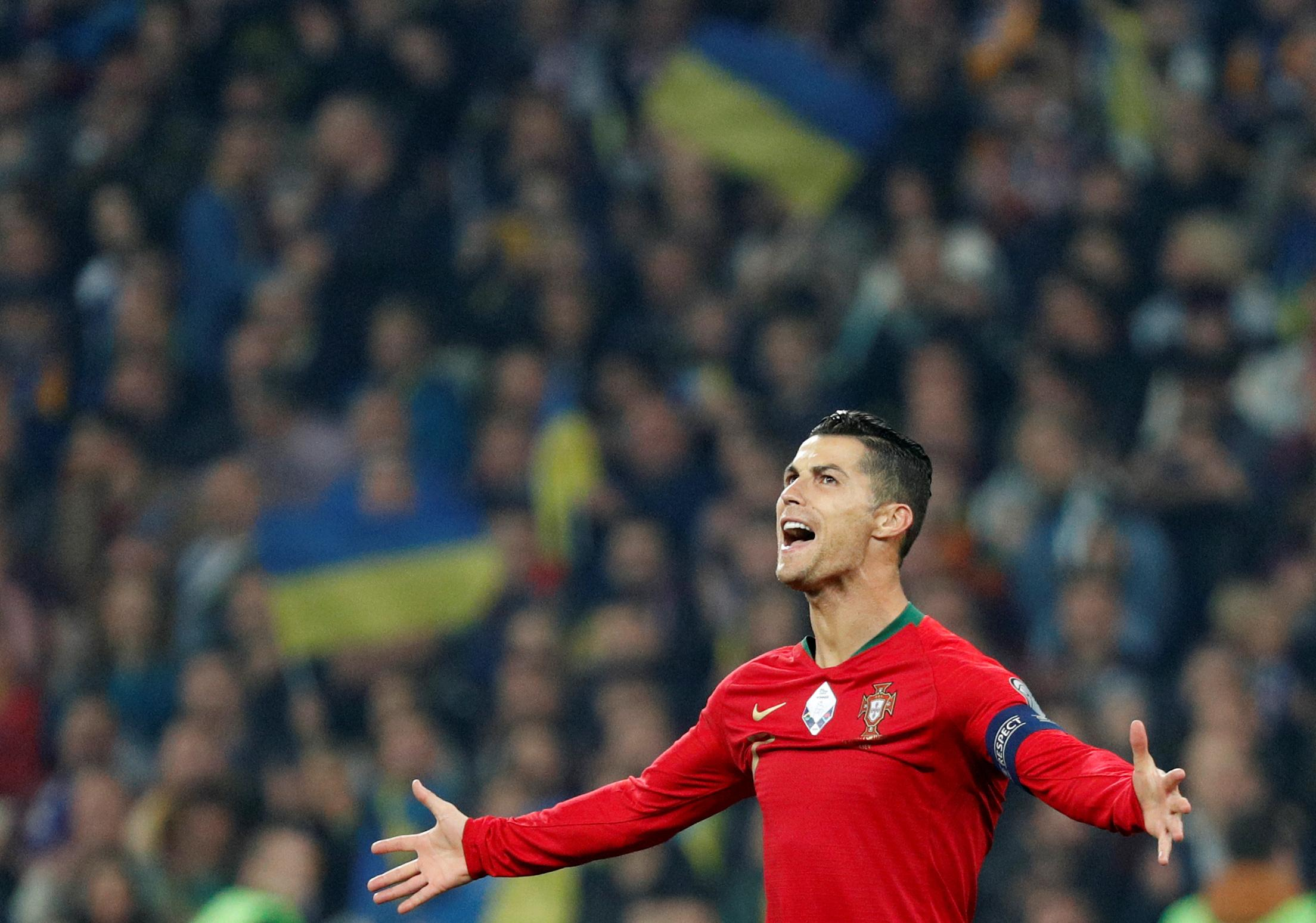 Ronaldo scores 700th career goal in Euro qualifier with Ukraine