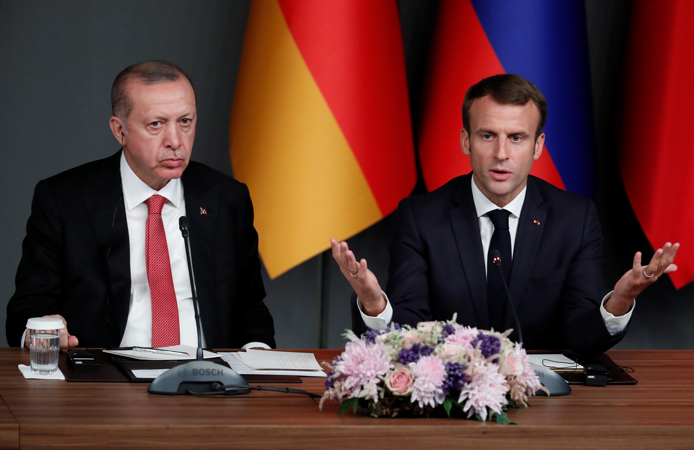 Erdogan explains aims of Syria operation to France's Macron -...