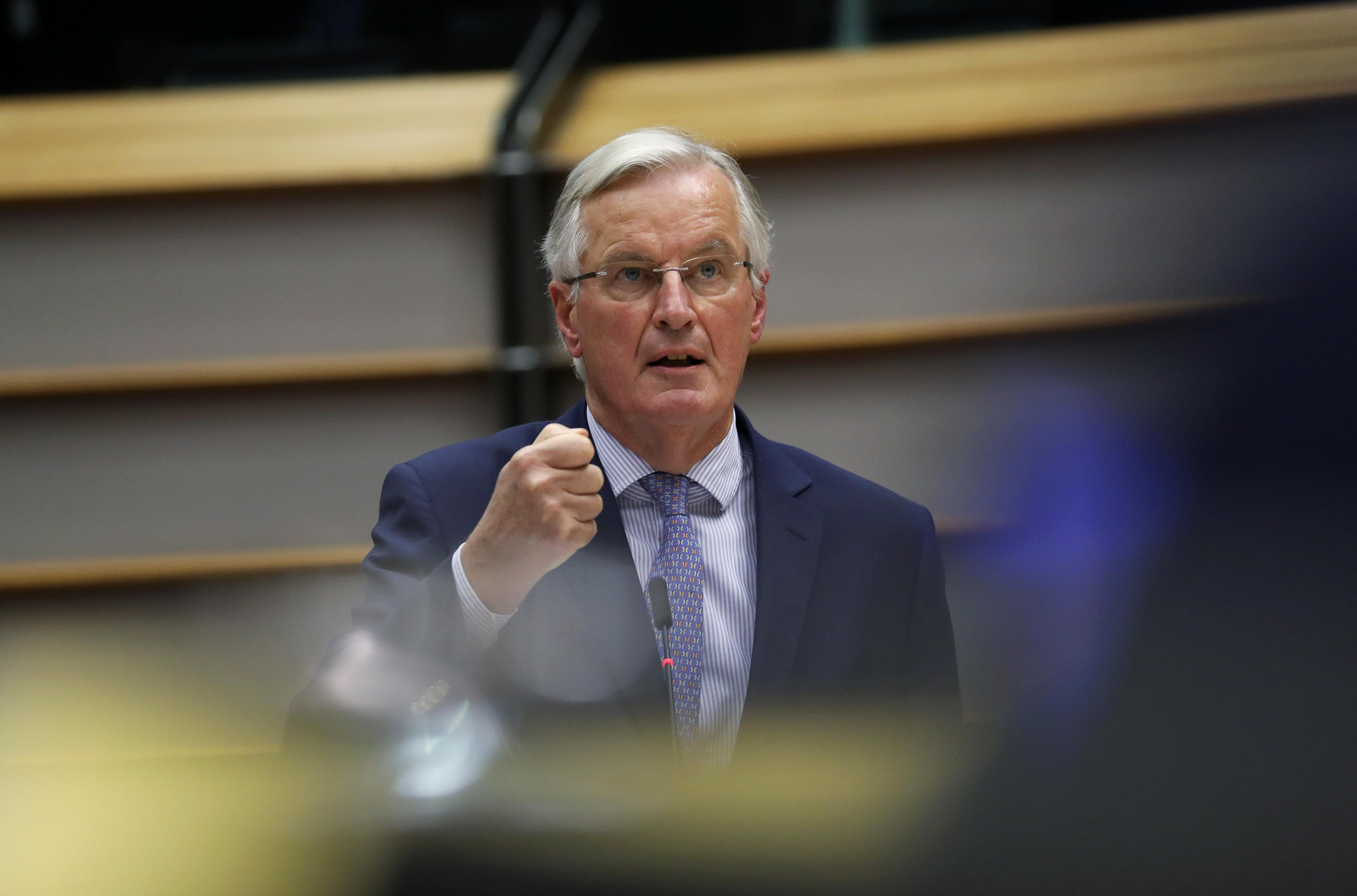 EU's Barnier says he needs Brexit text agreed Tuesday to recommend...