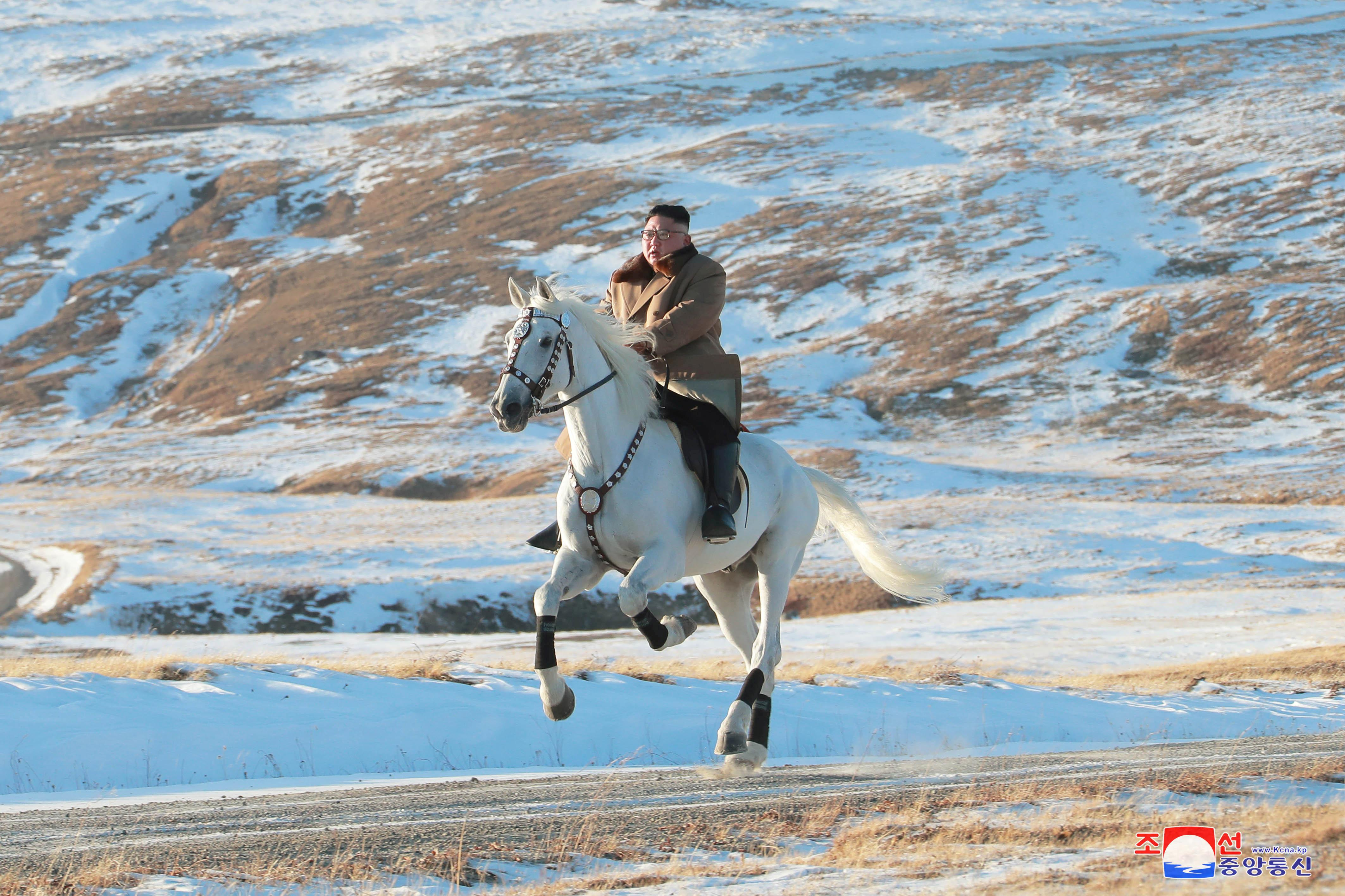 Policy shift anticipated as North Korea's Kim rides white horse on...
