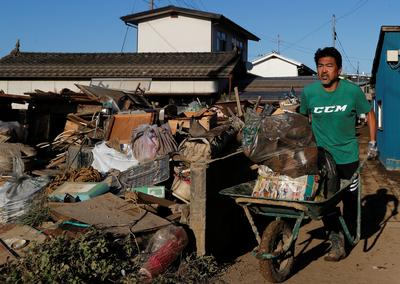 Japan cleans up after Typhoon Hagibis