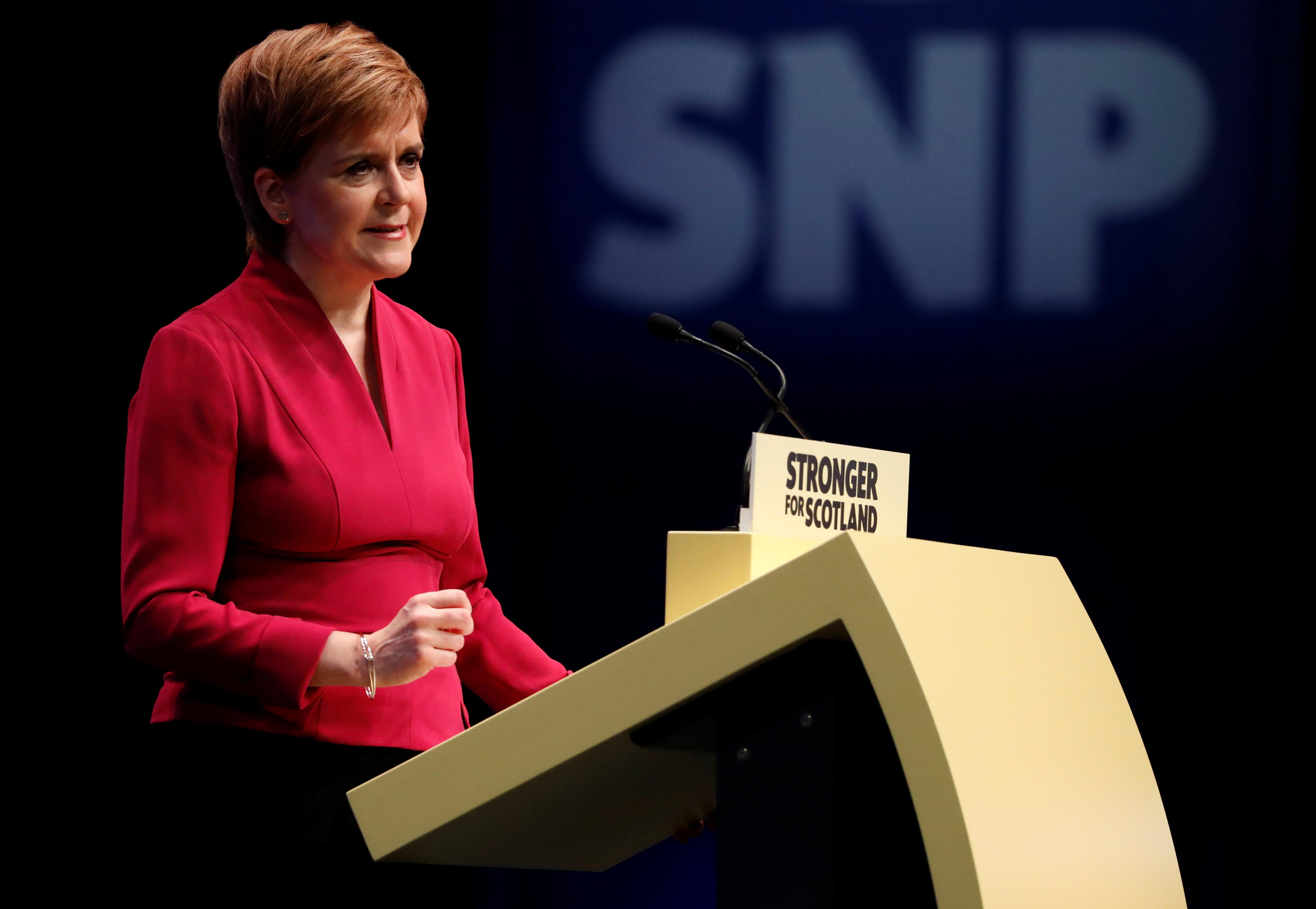 Scotland's Sturgeon says SNP will not vote for Johnson's Brexit deal