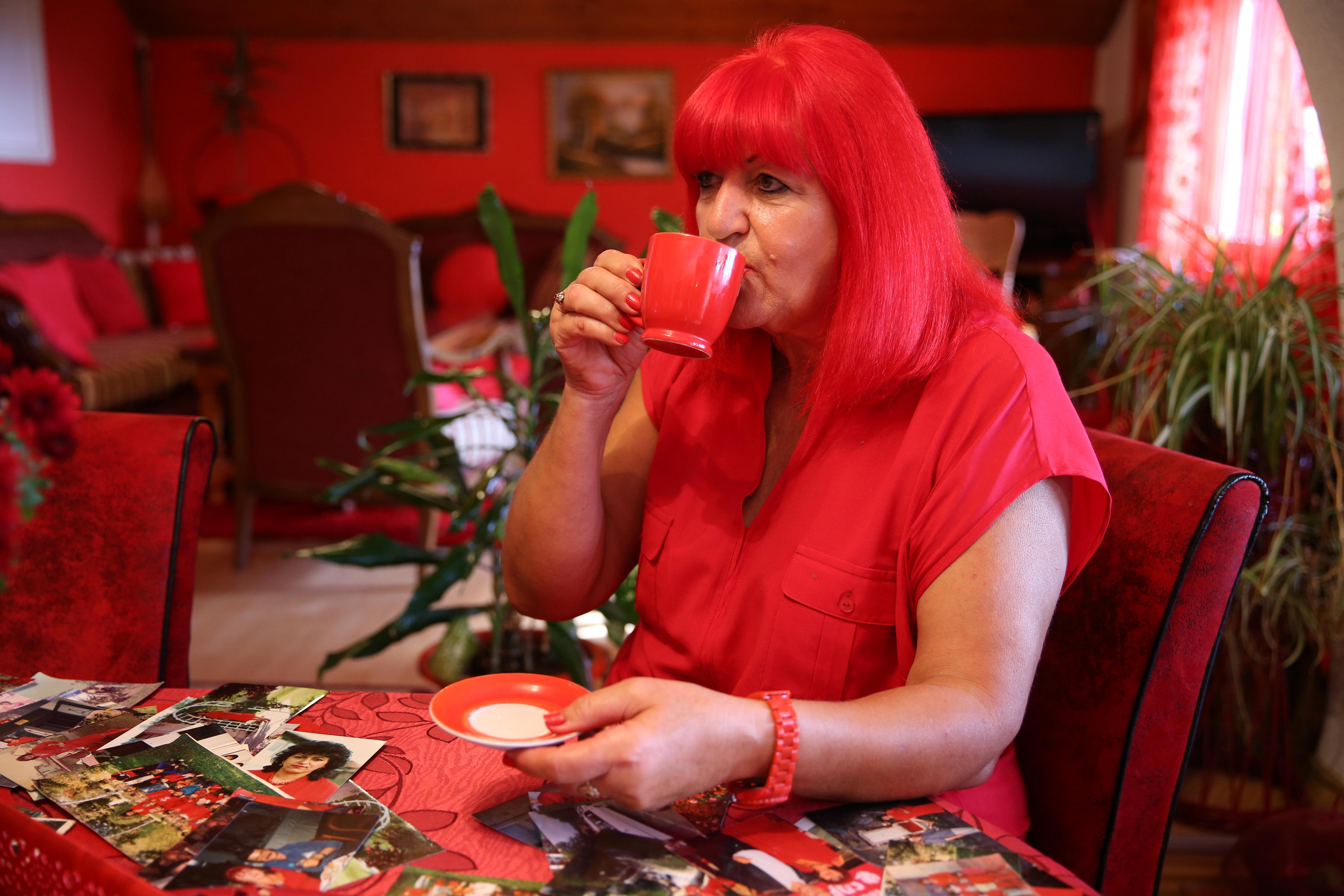 Bosnia's lady in red plans for the afterlife