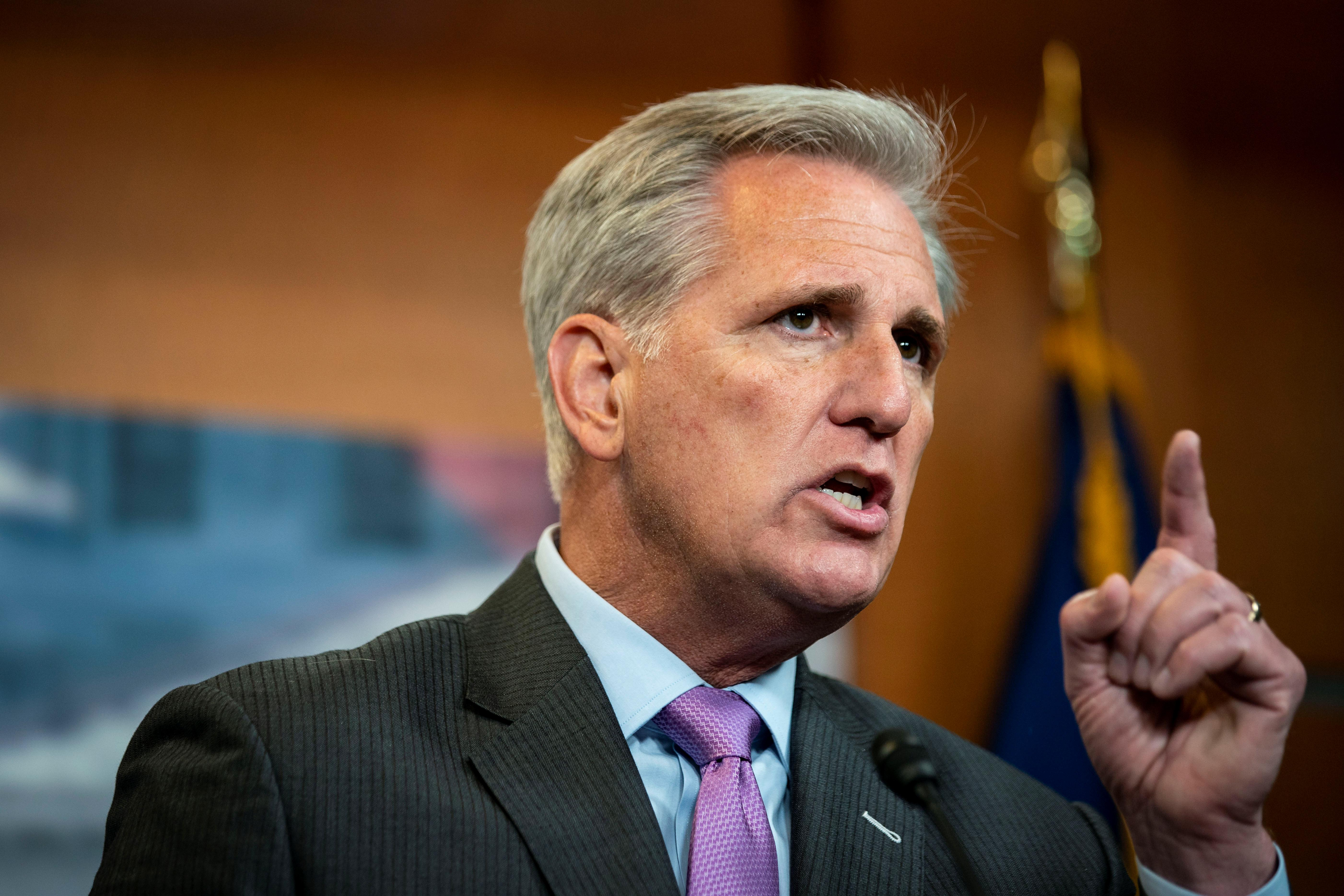 Republican leader McCarthy wants pause on U.S. congressional action...