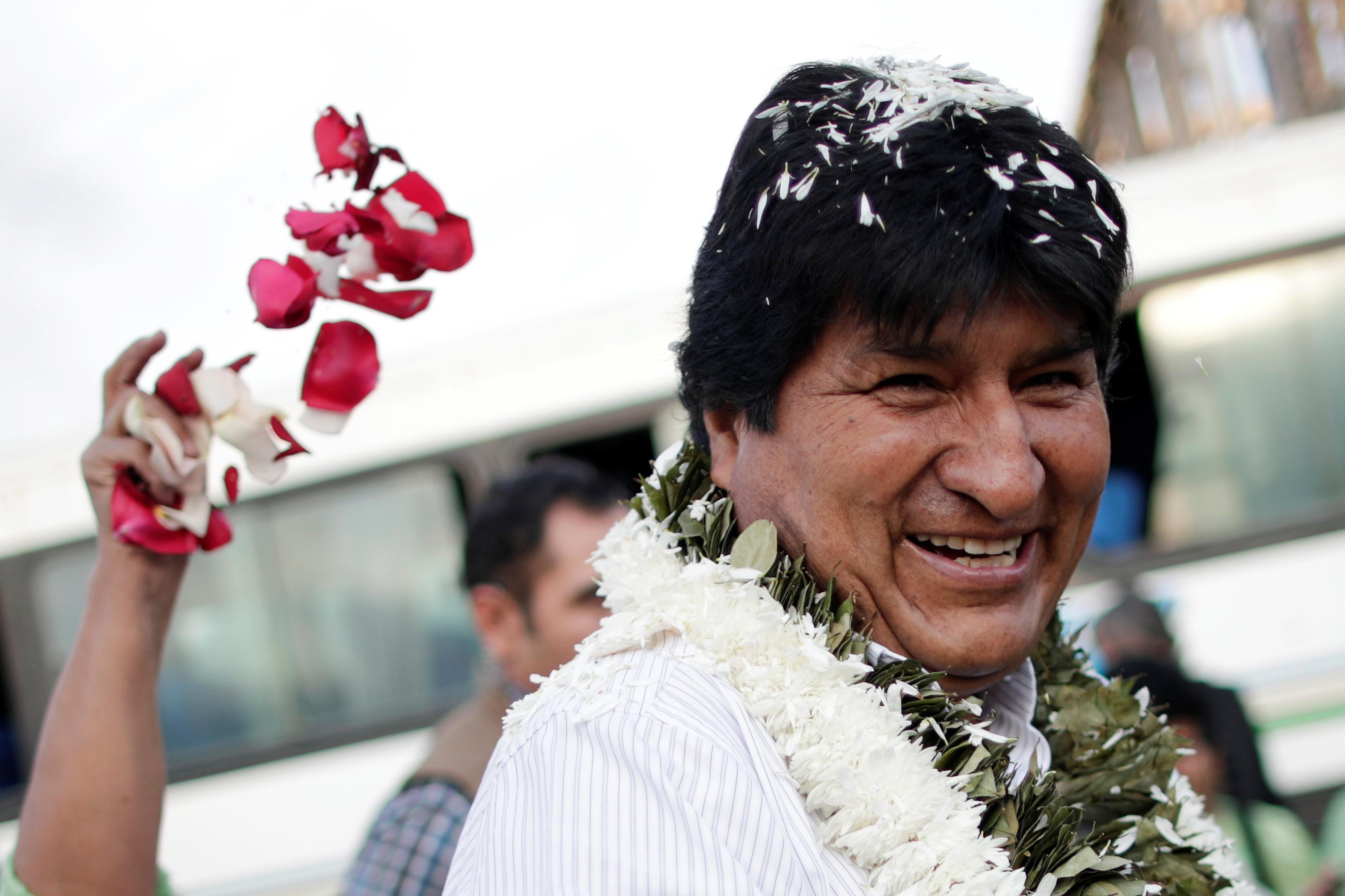 Bolivia's Morales confident of election win despite count...