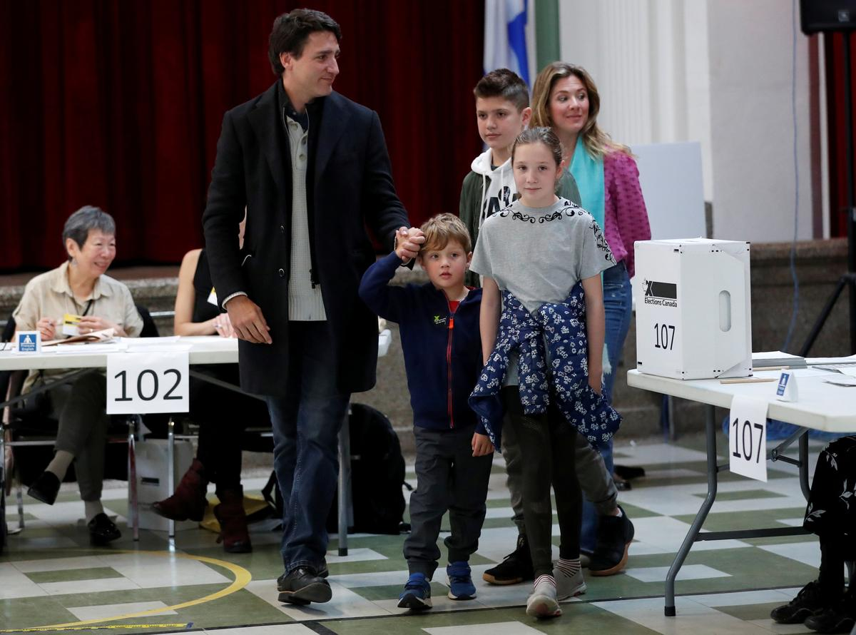 First polls close in Canada as Trudeau tries to hold power