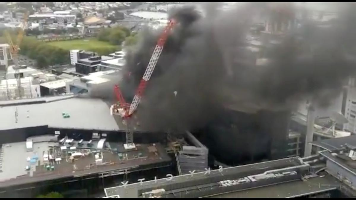 Fire still burning at New Zealand convention center, APEC hosting in doubt