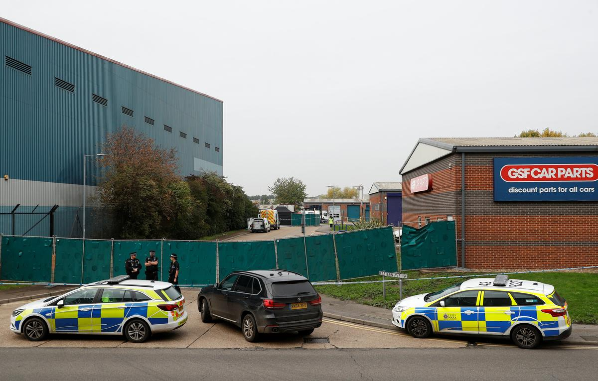 British police find 39 dead in truck container, arrest driver