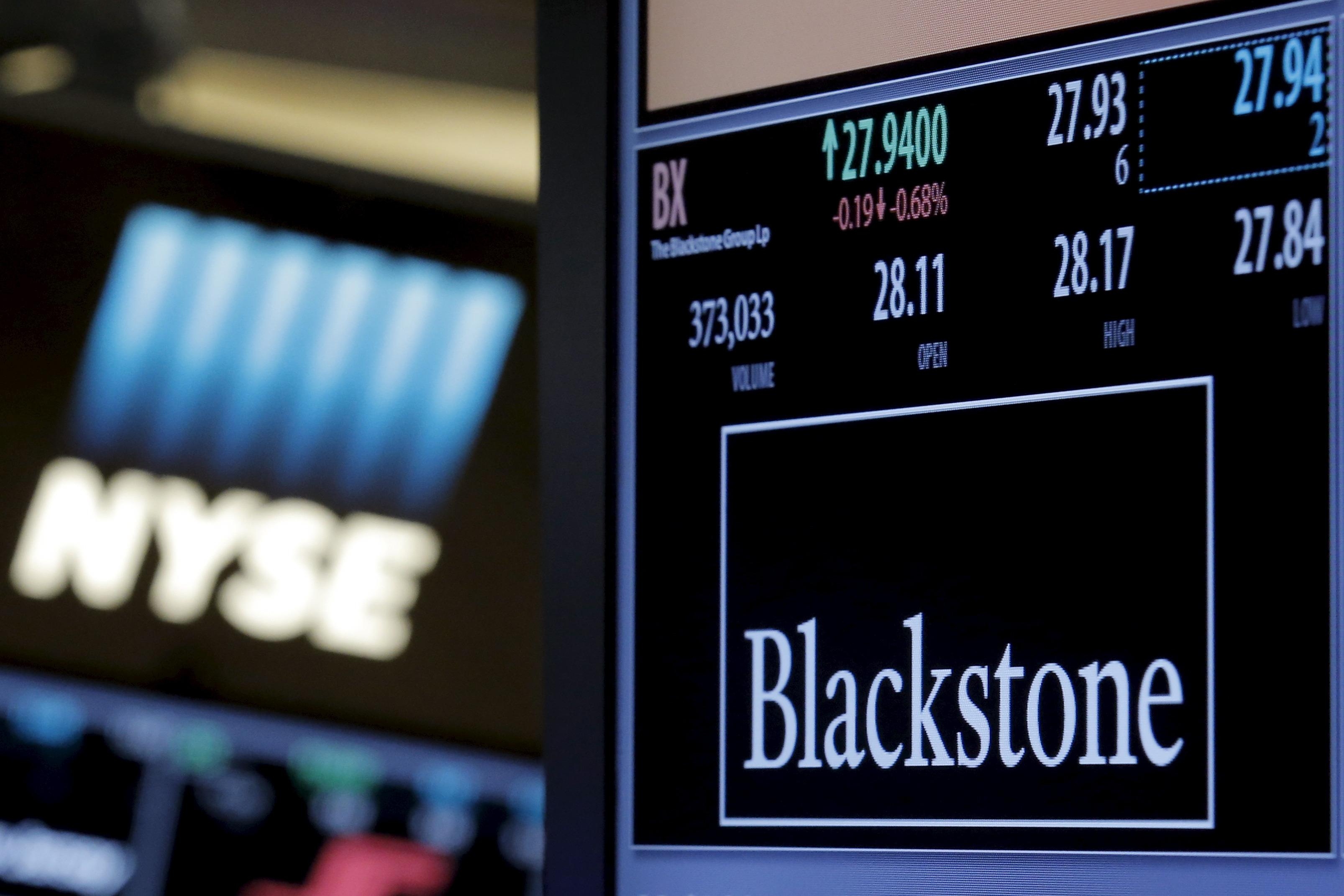 Blackstone third-quarter earnings drop less than expected