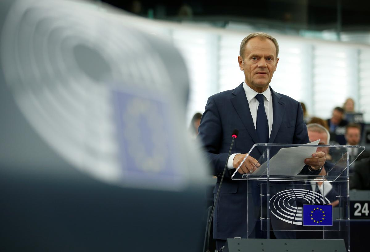EU's Tusk tells Johnson on phone call why he recommending Brexit extension
