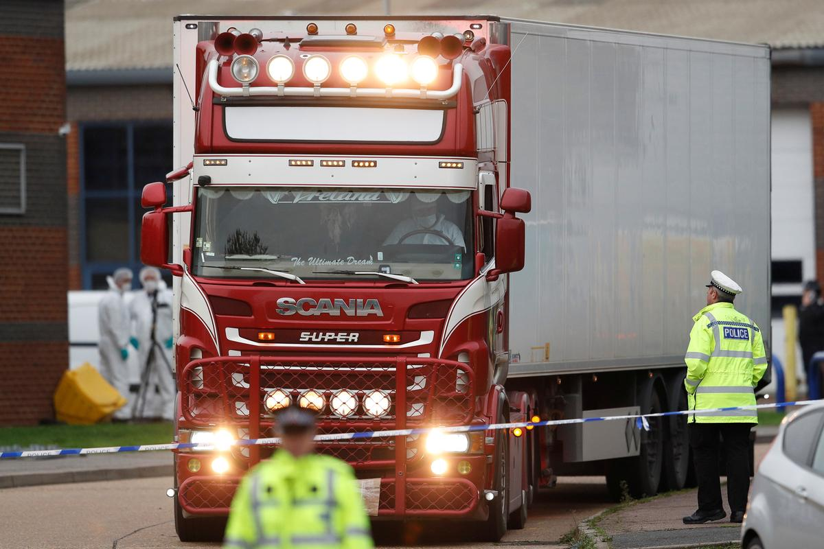 China has 'heavy heart' after 39 found dead in a truck in Britain