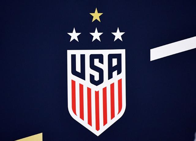 FILE PHOTO: Oct 5, 2019; Chicago, IL, USA; A detailed view of the US Women's National Soccer Team logo during a press conference at Soldier Field. Mandatory Credit: Mike DiNovo-USA TODAY Sports - 13465068