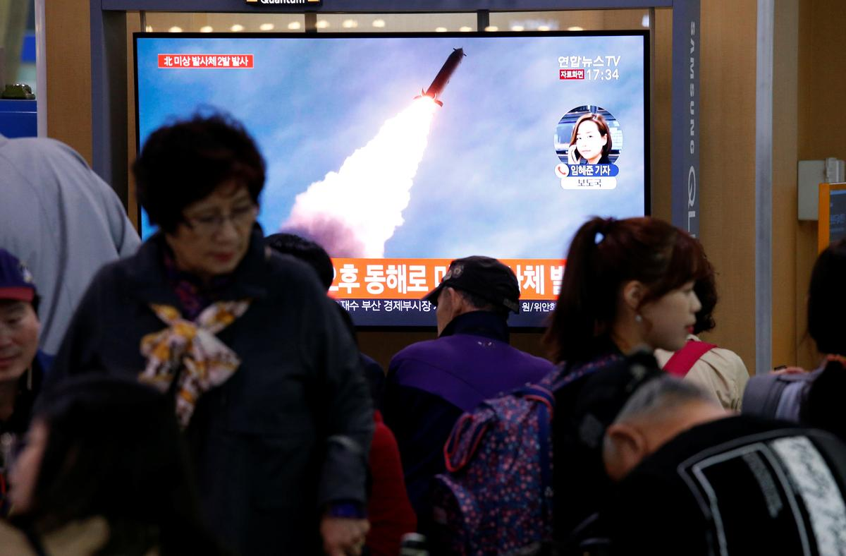 North Korea conducted successful test of multiple rocket launchers on Thursday: KCNA