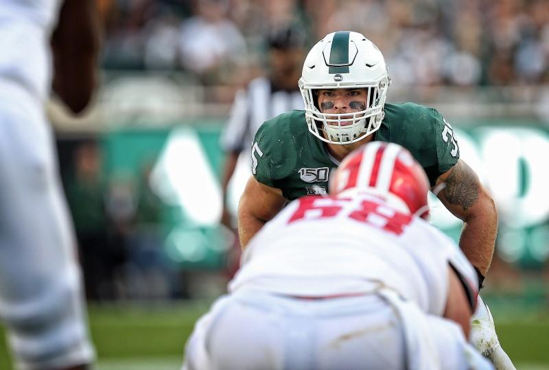 Michigan State LB Bachie suspended for failed drug test